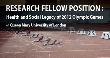 Research Fellow: Health and Social Legacy of London 2012 Olympics